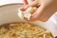 くずし豆腐のスープの作り方2