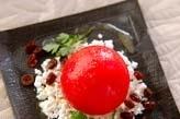 トマトの玉ネギ詰め