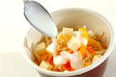 キャベツとミョウガの塩揉みサラダの作り方2