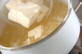 豆腐の梅とろろ汁の作り方1