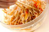モヤシのピリ辛ゴマダレの作り方2
