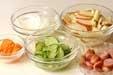 リンゴポテトサラダの下準備3