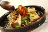 豆腐ステーキキムチのせの作り方4