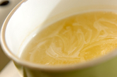 ホウレン草と玉ネギのみそ汁の作り方1