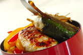 鶏と豆腐のつくね丼弁当の作り方5
