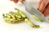 タラの芽とジャコのきんぴらの作り方1