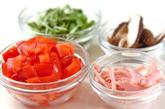 トマトの中華スープの下準備1