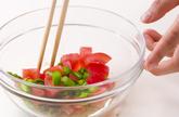 トマトと桜エビ混ぜ素麺の作り方3