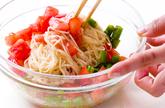 トマトと桜エビ混ぜ素麺の作り方4