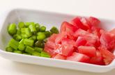 トマトと桜エビ混ぜ素麺の作り方2