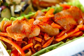 豚バラ肉と切干し大根の炒め物