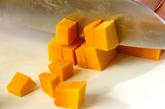 豆乳とカボチャのスープパスタの下準備1