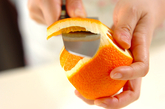 パインオレンジジュースの下準備1