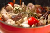 ハーブチキンのオイル煮の作り方1