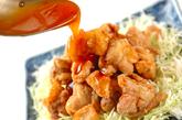 揚げ鶏の甘酢あんかけの作り方4