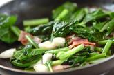 小松菜と長芋のエスニック炒めの作り方1