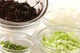 ヒジキとレタスのサラダの作り方1