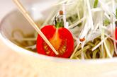 茶そばと大根のサラダの作り方1