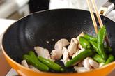 ささ身とシシトウのおつまみ炒めの作り方1