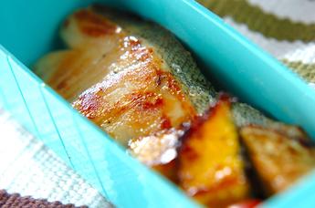 魚の西京焼き野菜を添え