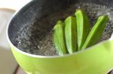 タコとオクラの梅ワサビ和えの作り方1