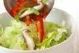 レタスと野菜のスープの下準備4