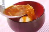 温泉卵の赤だしの作り方1