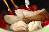 スズキとプチトマトのパスタの作り方2