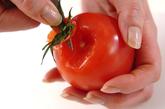 トマトとモッツァレラのサラダの下準備1