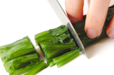 ホウレン草のゴマみそ和えの作り方1