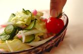炒めキャベツの酢の物の作り方2