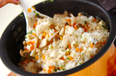 簡単キノコ炊き込みご飯の作り方3