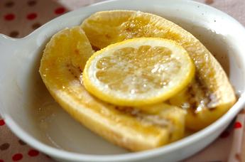 トースターで焼きレモンバナナ