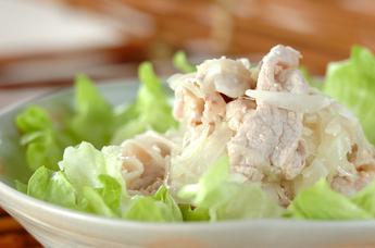 塩麹豚しゃぶのオニオンサラダ