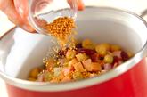 キャベツとソーセージのスープの作り方1