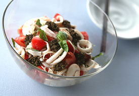 イカとトマトのさっぱりイタリアン素麺