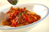 トマト煮込みハンバーグの作り方7