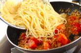 トマトとジャコのパスタの作り方2