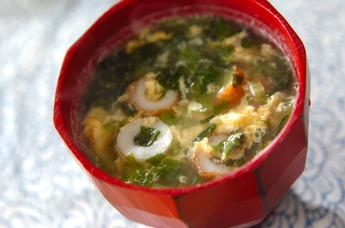 小松菜卵スープ