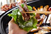 ホットプレート焼き肉の手巻き寿司の作り方2