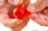 あめ色玉ネギ入りトマトの冷製パスタの作り方1