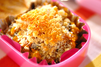 カボチャのパン粉チーズ焼き