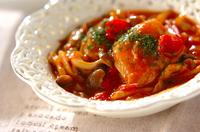 鶏肉とシメジのケチャップ煮