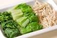 青菜とエノキのお浸しの下準備1