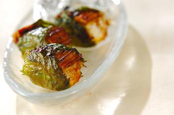 大葉のアナゴ寿司