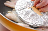 鶏皮のパリパリ焼きの作り方1