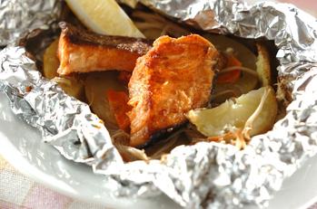 甘塩鮭のホイル焼き
