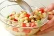 豆腐のオーブン焼き 納豆パスタ 大豆サラダの作り方3
