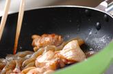 板コンと鶏肉の炒め煮の作り方2