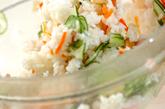 キュウリのサラダ寿司の作り方2